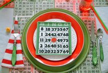 Game Night and Game Night Tablescapes / Ideas for creating a fun game night and Game Night tablesettings.