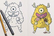 Fiverr cute illustration