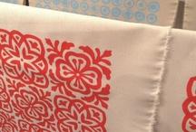 CREATE...screen printed fabric