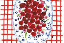 ilustração, à mesa