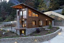 Wooden modern houses