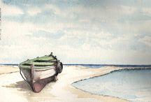 gli acquerelli di mario chiabrera / pittura acqurello