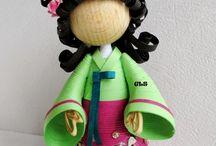 quilling poupée