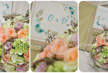 My work / flowers & cross stitch
