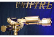 """Unifire Force 50 Robotic Nozzles / Unifire of Sweden's """"Force 50™"""" robotic nozzles (aka remote control monitors or water cannons)."""