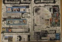 GCSE sketchbook layout ideas