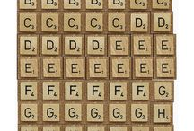 Scrable letters