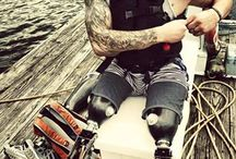 US Navy SEAL Bo Reichenbach (ret) / Navy SEAL Bo Reichenbach was injured by an improvised explosive device on deployment in Afghanistan. He is an avid sled hockey athlete and an American Badass.