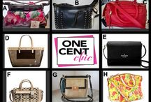 Fashion Friday at OneCentChic 7-18-14 / Choices, Choices, Choices - tonight at 10 PM Up for auction - Rebecca Minkoff, Kate Spade, Dooney & Bourke, orYANY, Brahmin, Patricia Nash and Coach