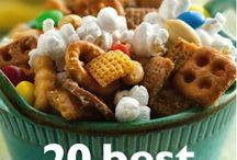 Mixed snacks / Popcorn, pretzels, etc