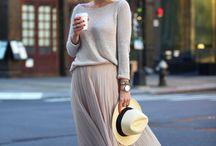 Laag contrast (analoge kleuren) in kleding