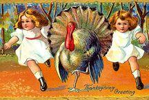 Vintage Thanksgiving postcards ...