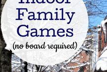 Family Fun Night / Things to do with your family when you are stuck indoors this winter. #familyfun # winter #funathome #games