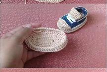 buty na szydełku