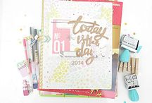 Planners - Organisers - Stationary / Planner making with scrap supplies