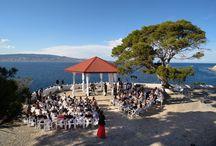 Wedding at Hydra Island at Sunset 2017