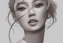 лица рисунки