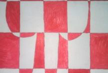 4.lk piirustus / sommittelu / Vuoden teemana luonto - sommittelu (muodot) - liike (rytmi, järjestys / epäjärjestys, tapahtumat, kineettisyys, pyöriminen) - paperin valmistus