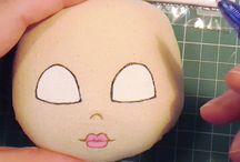 twarze lal szytych malowanie