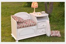 Vintage furniture by Romatic Dream / These pictures are about my restoration furniture