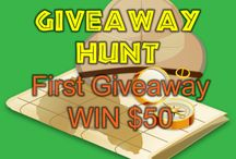 giveaways / hundreds of international giveaways every month