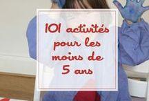 101 activités pour les - de 5 ans