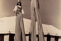 trad stilts costumes