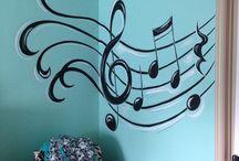 Teen girl music room