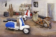 Artist 007 - Christine Gerard - Prints for Sale / A Large range of prints covering various genres, all of which are post free, I take paypal - Ebay Shop Address is - http://stores.ebay.co.uk/Re-Chord - includes, Vespa, Lambretta, Scooter