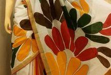 Hand paint design on saree