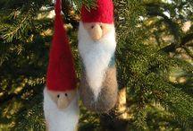 Gnomes ornements en laine feutré