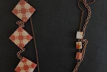 Collane handmade / Collane in resina, con perle in carta, con pietre dure