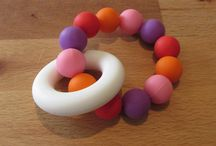 Silicone Teething Rings / Silicone Teething Ring  A beautiful colourful teether that your baby will love!  The ring and beads are made from 100% food grade silicone. They are BPA and FDA free making them a great option for your baby as they have no nasties.  These teething rings should be used under constant adult supervision.