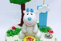 Goat Birthday Cake