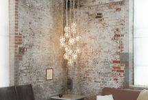 Exposed brick rooms