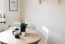 Simple Dining Rooms / Lovely places to eat.