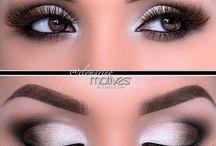 Eye makeup / Eye shadow  Winged liner Eyebrows