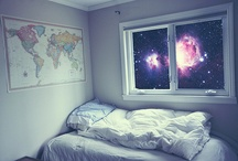 WOLFIE LOVES SPACE! / Decorating a boy's room  / by Barbara Struven