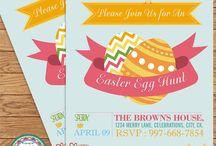 Easter Invitations 001 - DIY Custom Printable Invitation
