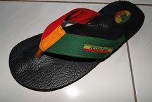Sandal rasta reggae jamaica tongs / Tongs sandal rasta reggae jamaica
