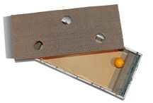 Cat Scratcher Jingle Box Toy / The Cardboard Cat Scratch Hunting Box is an interactive scratcher that engages your cats natural hunting behaviour with play. The Jingle balls inside are fun for your cat to chase and bat. Most cats stay inside all of their lives, separated from the stimulating, engaging activities that are naturally available outside of the house.