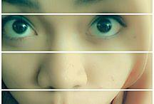 me / my eye..