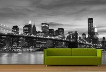 New York bedroom theme