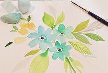 watercolors / by Aja Haywood