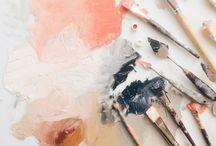 Кисти, краски