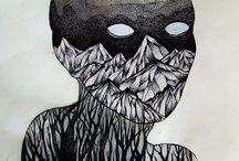 black line artwork / black line