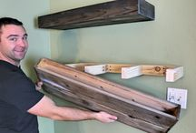hanging a wood shelf.   ? for tv