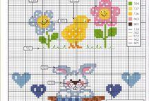 Cross stitch bibs