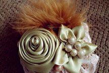 ribbon brooch / ribbon brooch