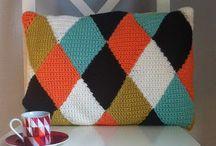 Крючком: ромбы / Crochet diamond